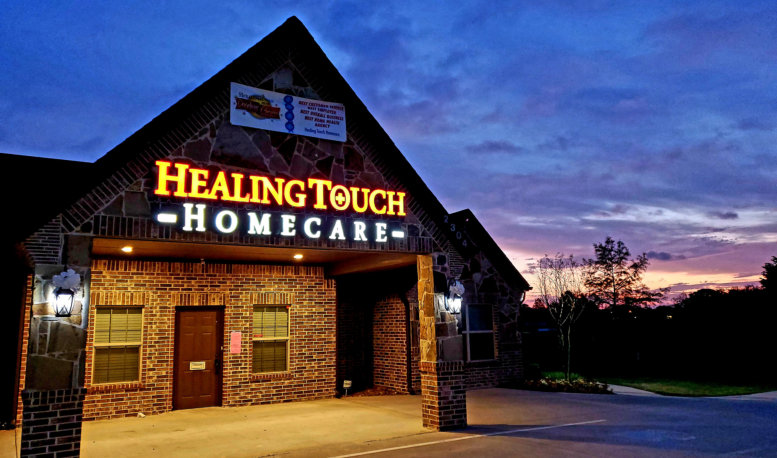 an picture of healing touch homecare building